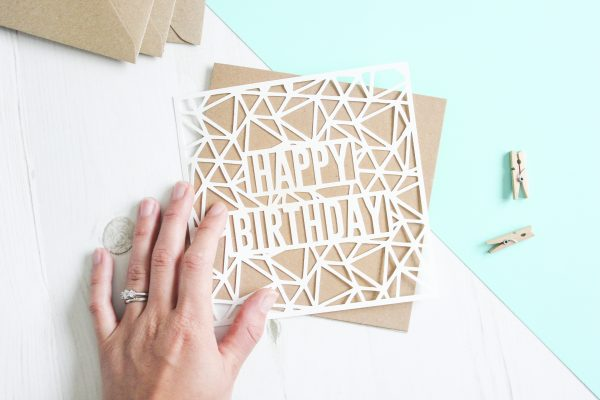 Geometric Birthday Card