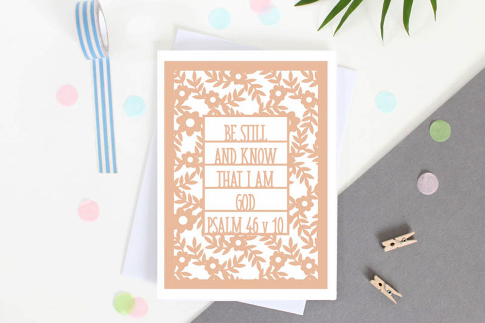 Bible verse card