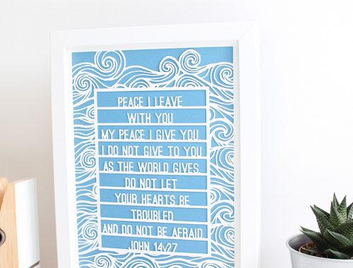 Bible verse original paper cut