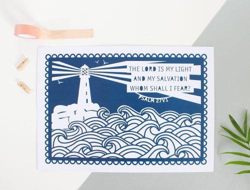 Paper cut style print